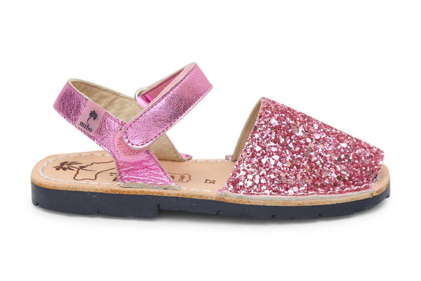 Mibo Avarcas Candy Glitter Hook & Loop Menorcan Sandals