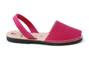 Mibo Avarcas Fuchsia Leather Menorcan Sandals