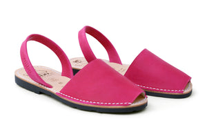Mibo Fuchsia Leather Avarca Sandals