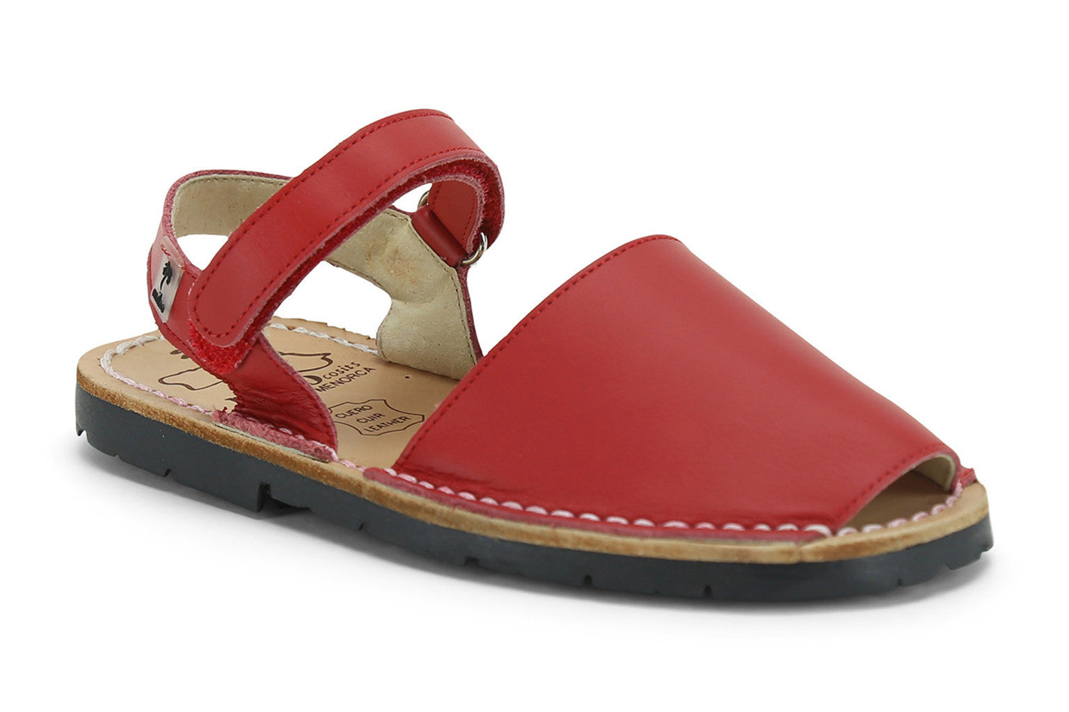 0195cb4ad Mibo Avarcas Kids Hook and Loop Red Leather Slingback Sandals - THE ...