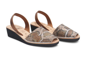 Mibo Leopardi Wedges Menorquinas Sandals