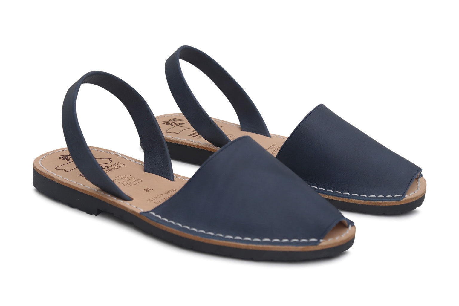 Mibo Avarcas Navy Menorcan Sandals The Avarca Store
