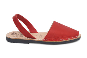 Mibo Avarcas Red Menorcan Sandals