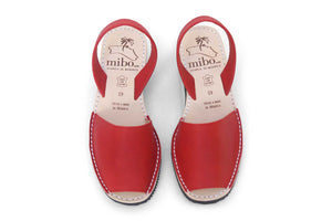 Mibo Avarcas Red Wedges Menorcan Sandals