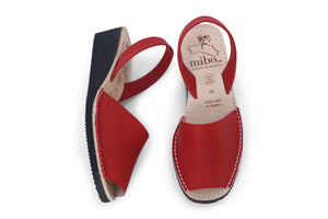 Mibo Avarcas Red Wedges Menorcan Sandals_web4