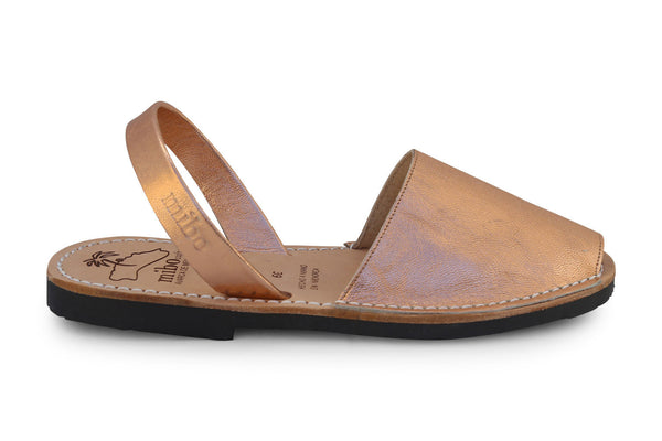 Mibo Avarcas Metallic Rose Gold Menorcan Sandals