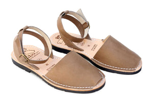 Mibo Avarcas Taupe Ankle Strap Sandals