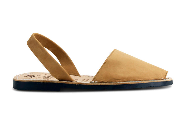 Mibo Avarcas Women's Classics Tan Leather Slingback Sandals