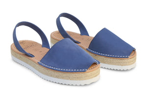 Mibo Flarform Avarcas Blue Menorcan Sandals