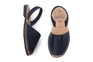 Mibo Navy Vegan Avarcas Sandals