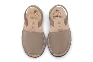 Mibo Taupe Kids Avarcas Menorcan Sandals