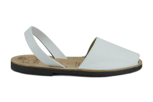 Mibo Avarcas Women's Classics White Leather Slingback Sandals