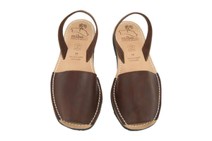 Mibo Avarcas Chocolate Menorcan Leather Sandals