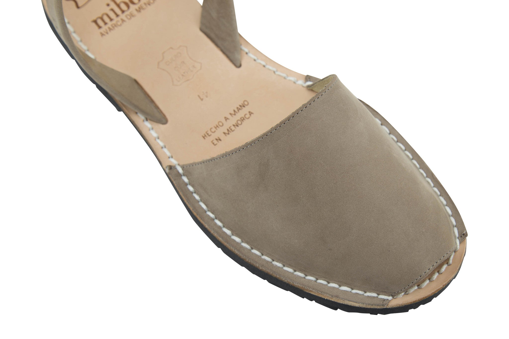 a2540dc54 Mibo Avarcas Women s Classics Taupe Leather Slingback Sandals - THE ...