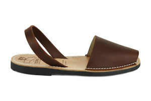Mibo Avarcas Men's Classics Mocha Leather Slingback Sandals