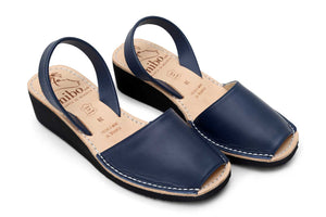 Mibo Navy Wedges Menorcan Sandals