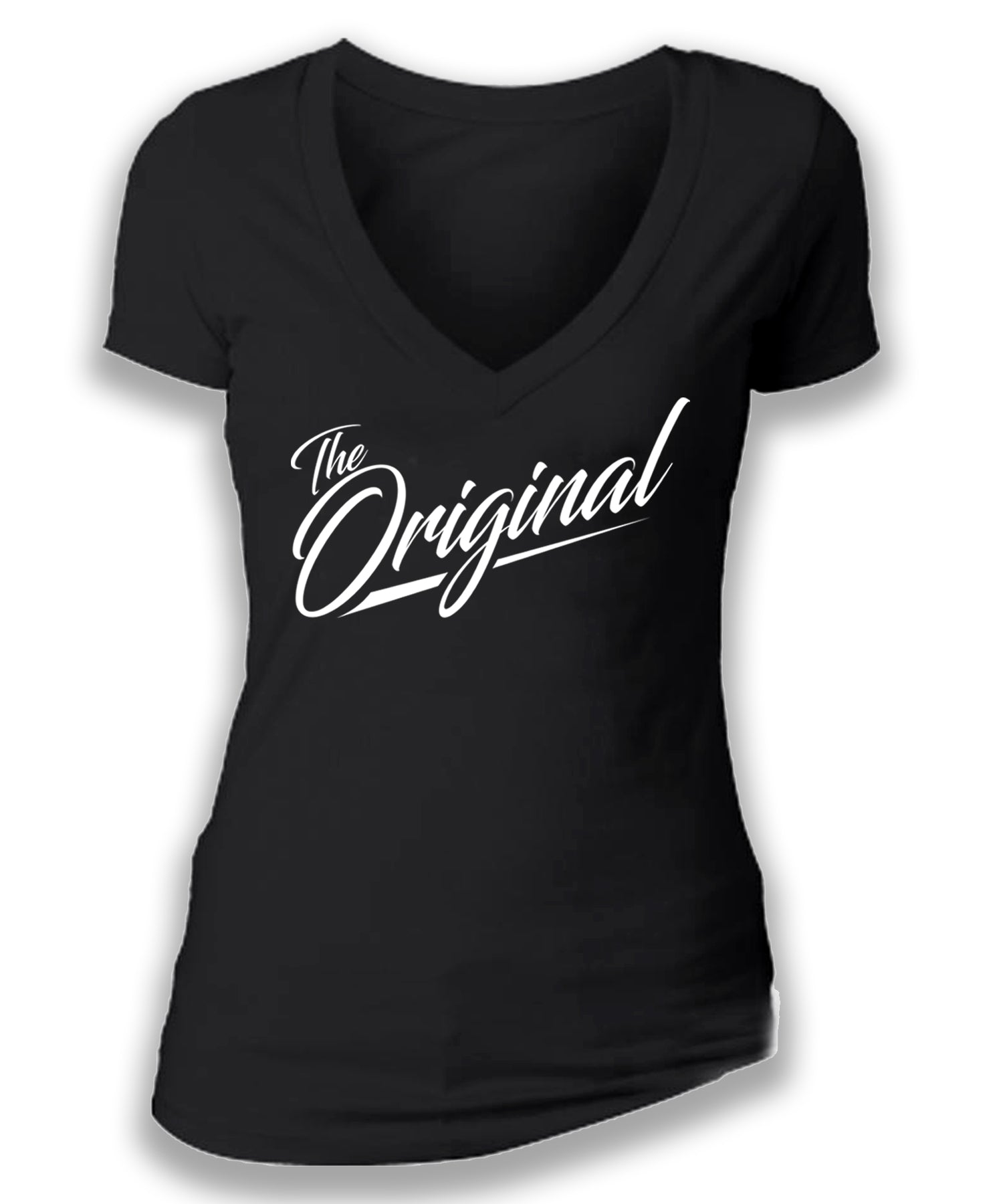 THE ORIGINAL - women's short sleeve deep v tee