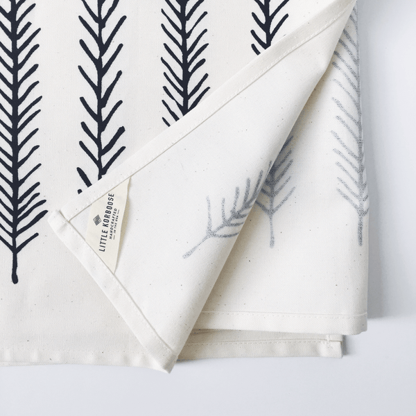 Little Korboose Organic Cotton Feather Table Runner