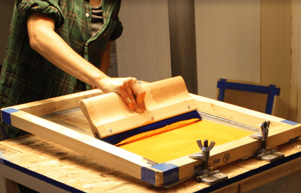 April Nemeth of Little Korboose, screen printing process