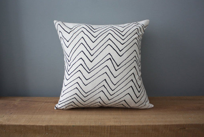 Chevron Organic Cotton Pillow 12x12
