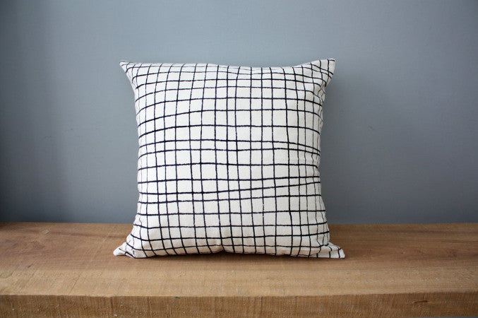 Plaid Organic Cotton Pillow 12x12