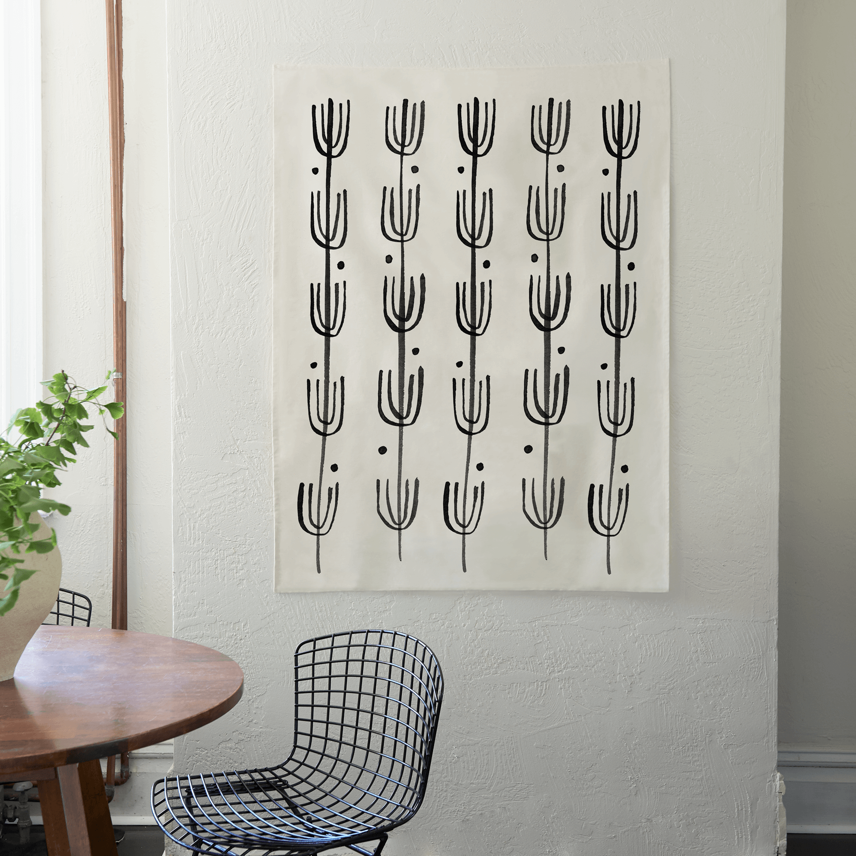Saguaro | Hand Screen-Printed Cotton Tapestry (FREE SHIPPING)