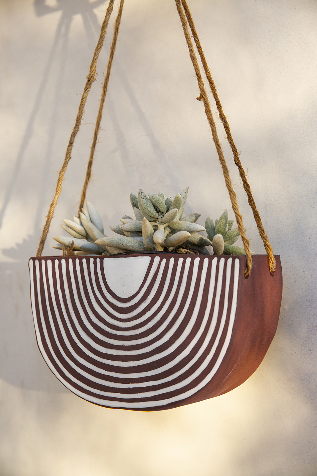 Hanging Terracotta Planter | Rainbow Roads