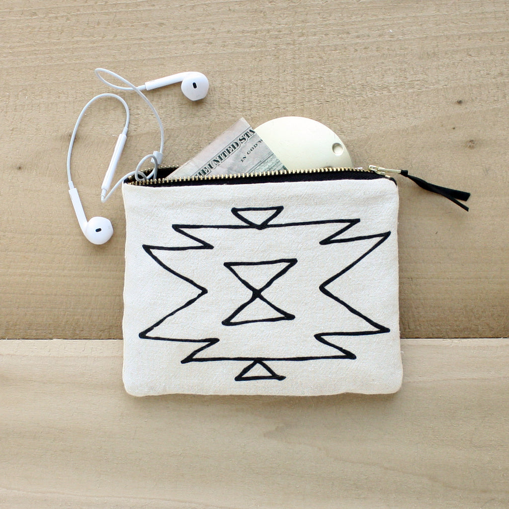 Southwest Organic Cotton Zipper Pouch