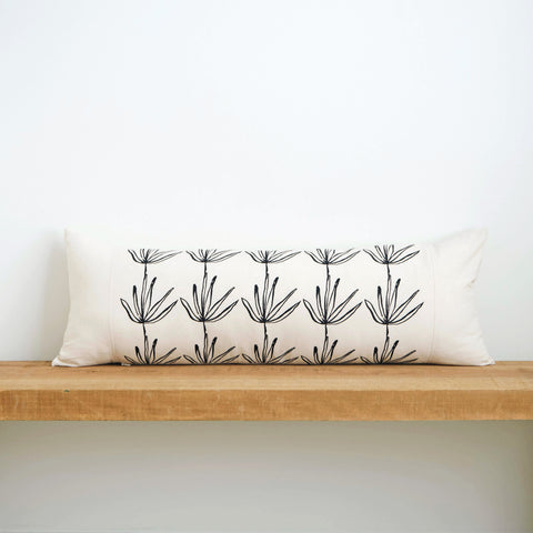 Agave | Organic Cotton Lumbar Pillow 13x35