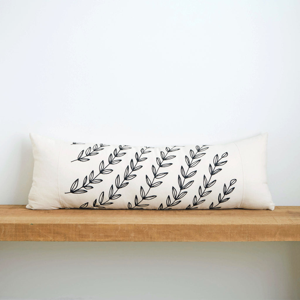 Vines | Organic Cotton Lumbar Pillow 13x35