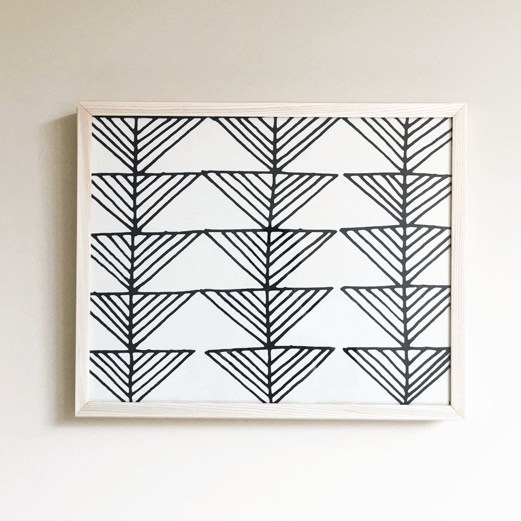 Arrows Framed Textile 16x20