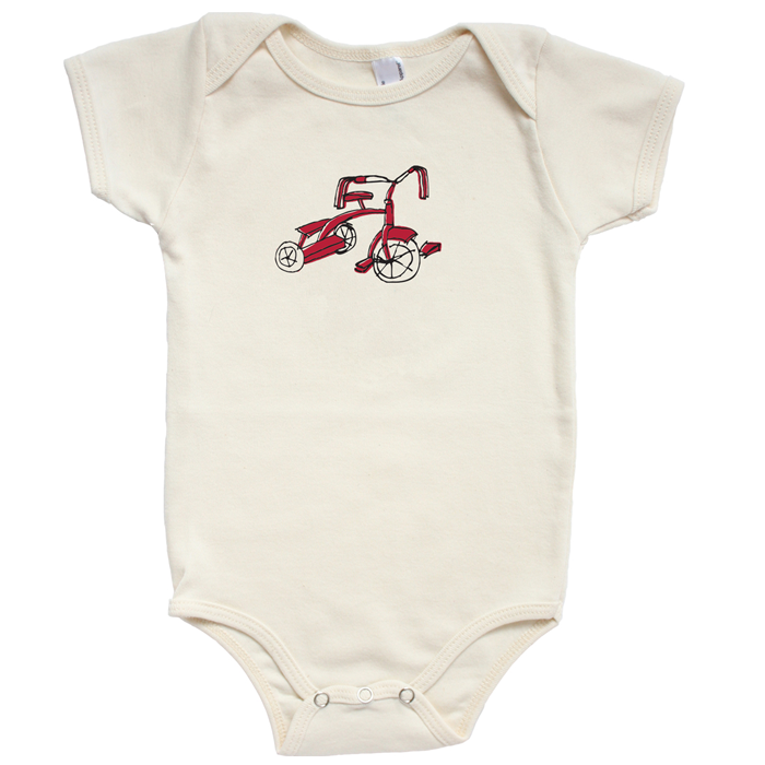 tricycle organic cotton baby onesie