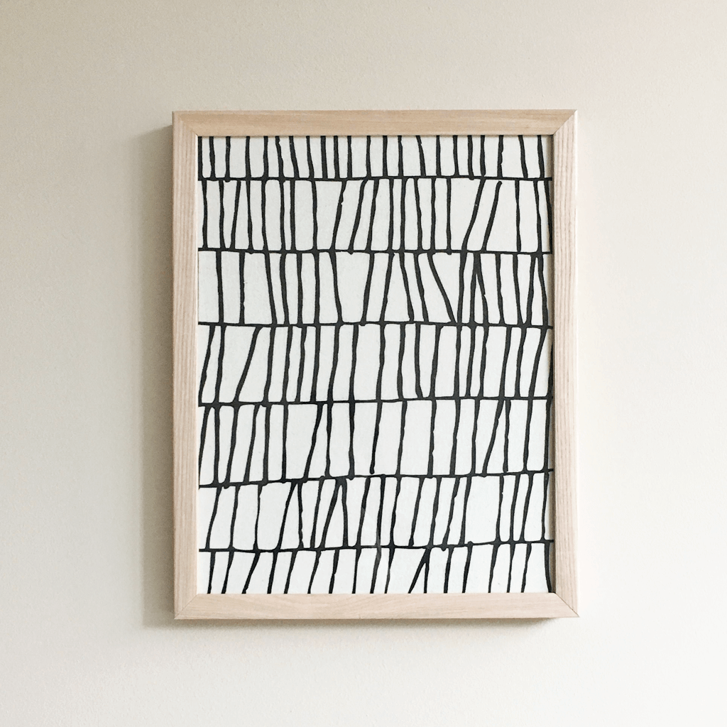 Thatch | Framed Textile 11x14