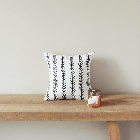 Feather Organic Cotton Pillow 12x12
