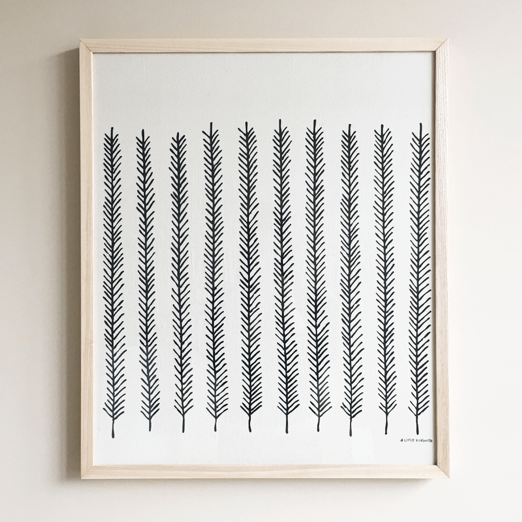 Feather Framed Textile 20 x 24