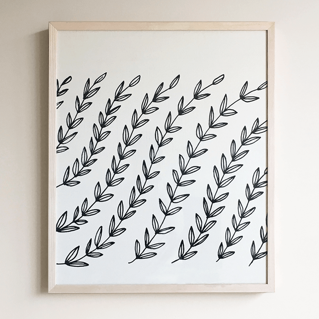 Vines | Framed Textile 18x24