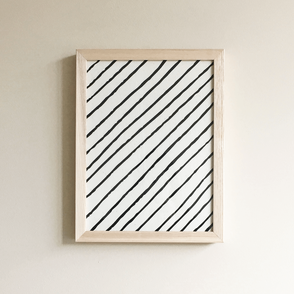 Diagonal Stripe | Framed Textile 9x12