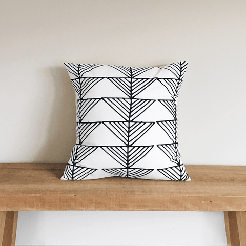 Arrows Organic Cotton Pillow 18x18