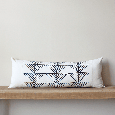 Arrows Organic Cotton Lumbar Pillow 13x35