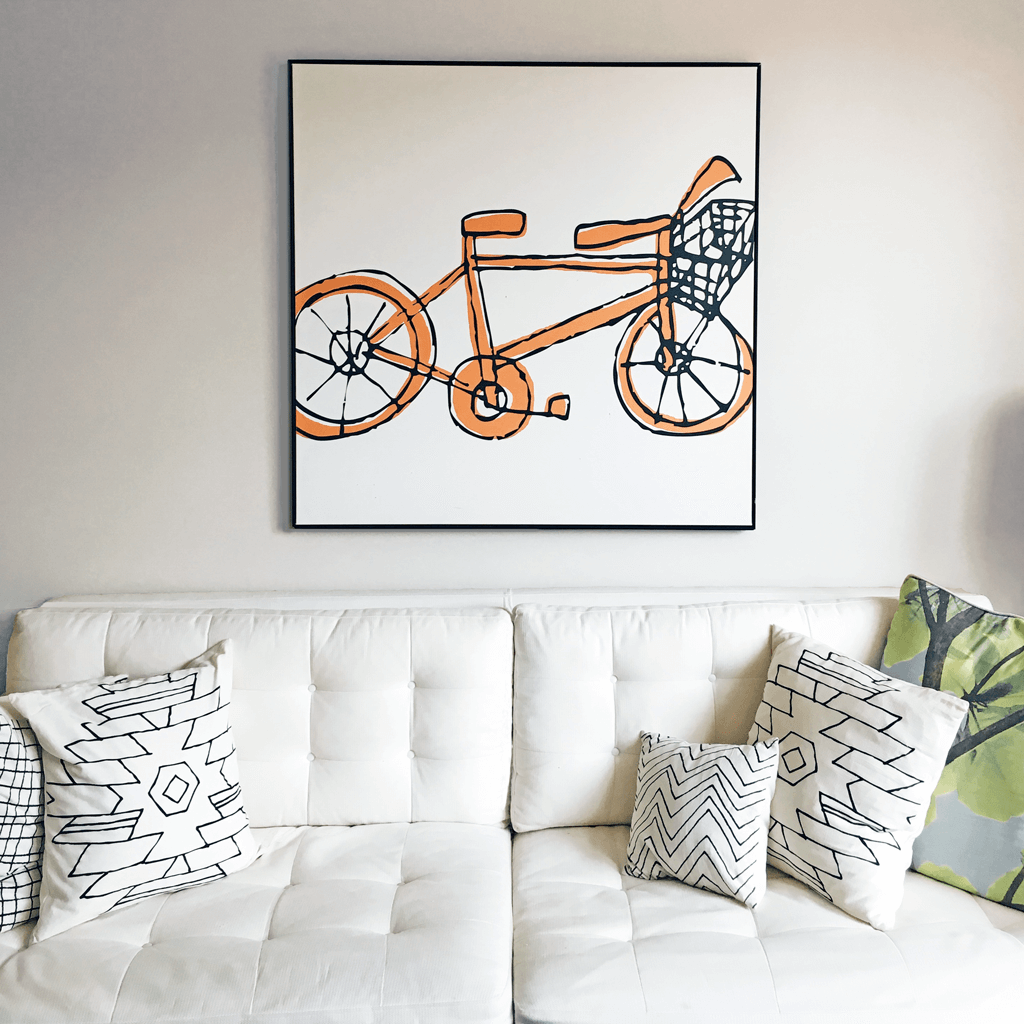 Bicycle Painting 40x40