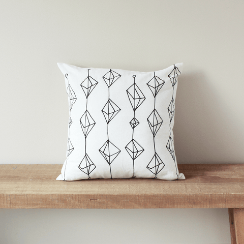 Crystals Organic Cotton Pillow 18x18