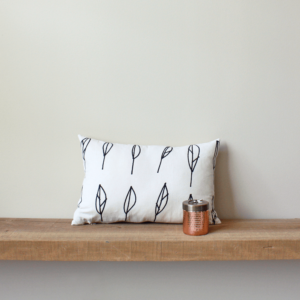 Leaf | Organic Cotton Lumbar Pillow 18x12