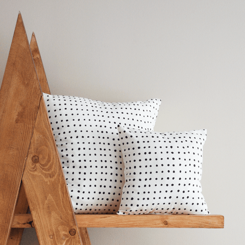 Pins Organic Cotton Pillow 12x12