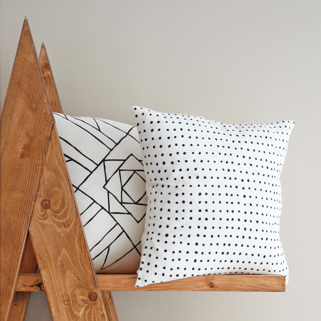 Pins Organic Cotton Pillow or 18x18