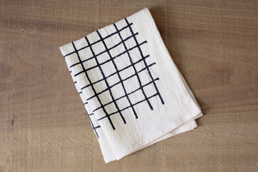 Plaid Organic Cotton Cocktail Napkins (set of 2)