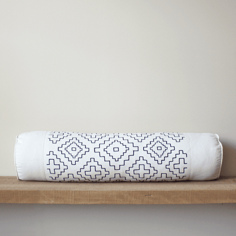 Weave Organic Cotton Bolster Pillow 8x36