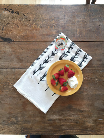 Feather Organic Cotton Tea Towel