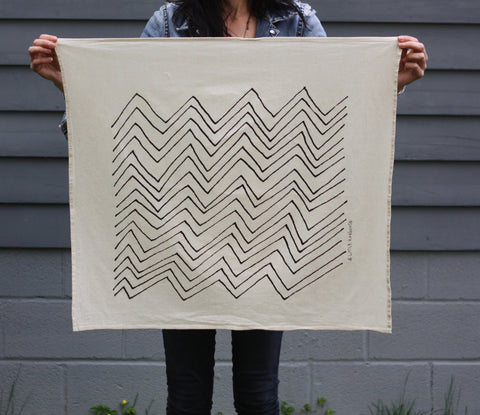 Chevron Organic Cotton Tea Towel