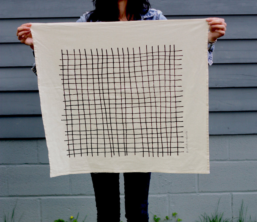 Plaid Organic Cotton Tea Towel