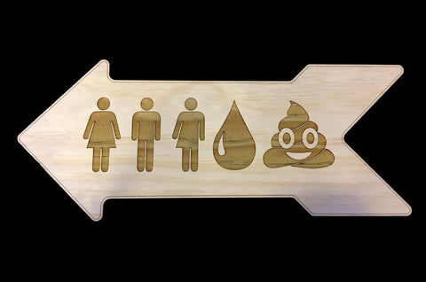 All Humans Pee & Poo Bathroom Sign
